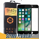 New Selling 3D Curved Glossy Front Tempered Glass For iPhone 6 6S 7 Plus Full Covered 9H Soft Carbon Fiber Edge Screen Protector