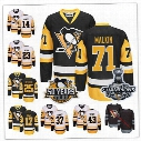 Pittsburgh Penguins Jersey 2017 Champions Patch Chris Kunitz Evgeni Malkin Carter Rowney Bryan Rust Tom Sestito Conor Sheary Scott Wilson