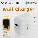 QC3.0 Wall Charger For Samsung S7 S8 Fast Wall Charger Car Chargers S6 Travel Adapter EU US 5V 3A with Retail Package