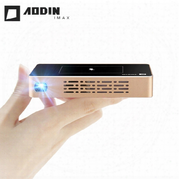 Wholesale- Aodin M9 Touch Keys Mini Smart Projector 16g/32g Memory Hd Pico Proyector Pocket Beamer Free Mini Tripod/carry Bag/usb Charger