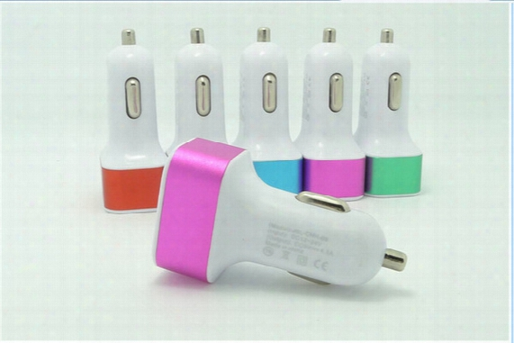 200pcs/lot Universal 4.1a 12v 3 Usb Port Travel Car Charger Adapter For Iphone 5 6 7 Samsung S8 S7 Note 4 Smart Mobile Phone