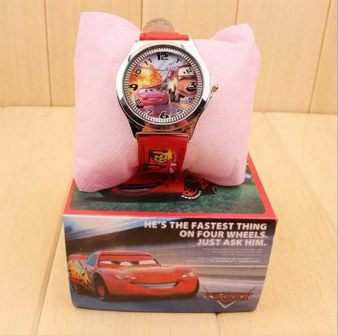 2016 Car Kids Wristwatches Children Watch Cartoon Car Boxed Cartoon Christmas Gift Wristwatch With Box