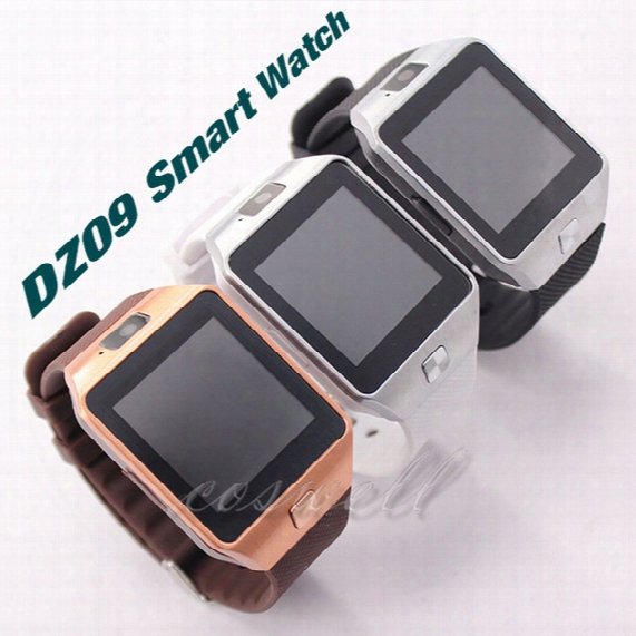 2016 Newest Smartwatch Dz09 Bluetooth Smart Watch Wearable Dz 09 Sport Box Package Sim Card For Apple Ios Android Cell Phone 1.56inch Dhl