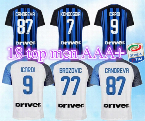 2017 2018 Inter Soccer Jersey Icardi Perisic Milan Home Away +patch Football Shirt 17 18 Ever Banega D'ambrosio Eder Maillot De Foot