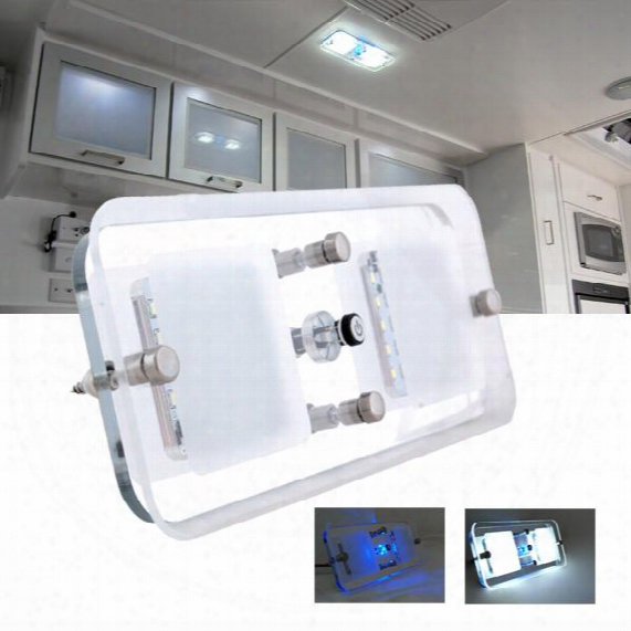 300 Lumens12v Dc Cool White Led Crystal Roof Ceiling Light Caravan/rv/car/motorhome/marine