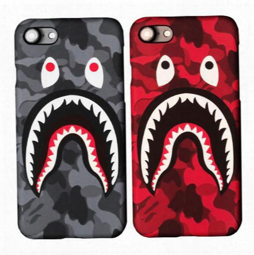 3d Cartoon Cell Phone Case Cases For Iphone7 Iphone 7 6 6s Plus 5s Hard Pc Defender Case Camouflage Shark Protector Case