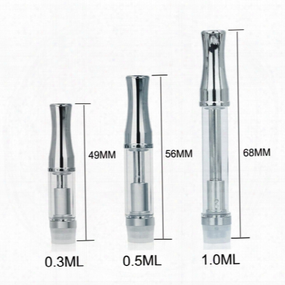 Best Wax Extract Oil Vaporizer Stainless Steel Drip Tip Pyrex Glass Tube Thick Oil Atomizer 510 .3ml .5ml 1ml Concentrate Oil Cartridge C3