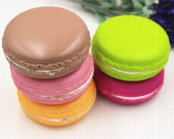 Breadou Kawaii Squishy Macaron Candy Color Rare Jumbo Buns Mix Colors Order Slow Rising 20pcs/lot 8cm