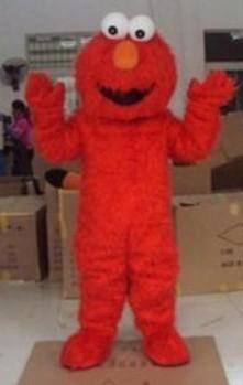 Factory Direct Selling High Quality Long Fur Elmo Mascot Costume Character Costume Cartoon Costume Elmo Mascot Free Shipping