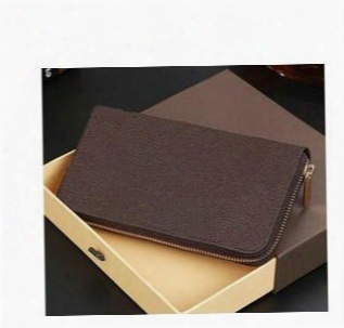 Free Shipping 2017 Hot Sell Pu Leather Mens And Womens Wallets Purse Card Holders Long Style Wallet With Box Lqh2018