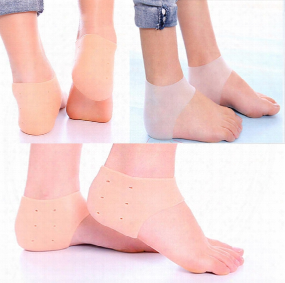 Gel Heel Sleeve Moisturizing Silicone Socks Heel Ankle Pain Relief Cushion Sleeve Silicon Ankle Cover Feet Care Free Dhl E880l