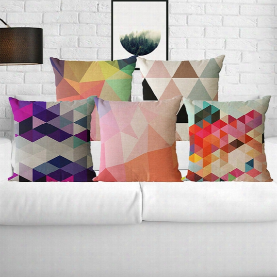 Geometric Pattern Pillow Case Pillowcases Throw Pillow Cushion Covers For Pillows Pillowslip Decorative Sofa Car Home Decorations 45*45cm