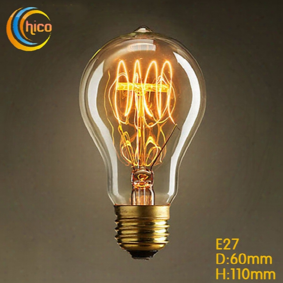 Led Vintage Edison Light Bulb Led Light Bulb E27 Vintage Squirrel 40w Fireworks Carbon Filament Antique Lamp Lights Bulbs