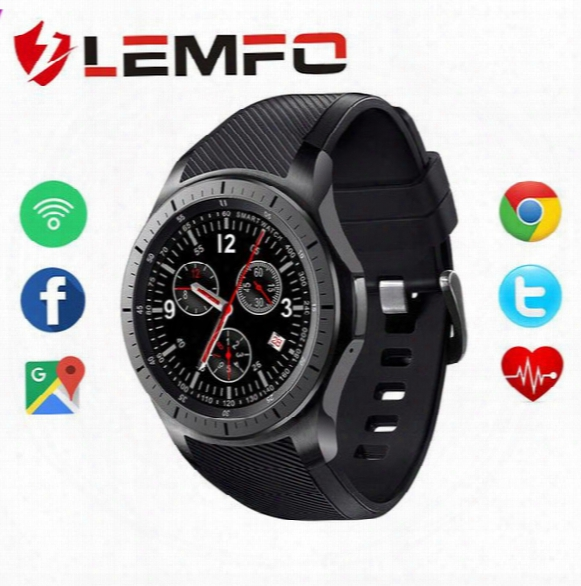 Lemfo Lf16 Android  5.1 512mb+8gb Mtk6580 1.39 Inch Ultra Thin Smart Watch Phone Support Wifi Bluetooth Gps Sim Card Smartwatch