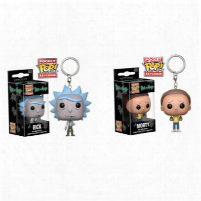 Lilytoyfirm Original Funko Pop Keychain Avengers Rick And Morty Action Figure Bobble Head Q Edition New Box For Car Decoration