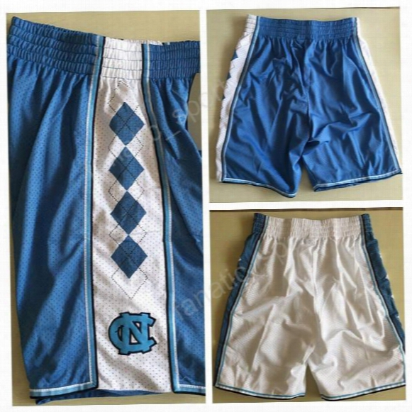 Men 2 Joel Berry Ii Basketball Shorts North Carolina Tar Heels Basketball Shorts Breathable 44 Justin Jackson 5 Marcus Paige Blue White Team