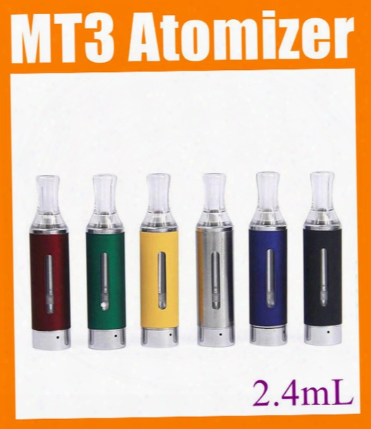 Mt3 Clearomizer Evod Mt3 Atomizer Vaporizer Cartomizer 2.4ml Tank For Ego T Evod Electronic Cigarette E Cigarette E Cig Evod Mt3 Kit At032