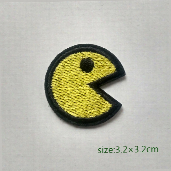 Pac Man Game Motif Iron On Hotfix Patch Appliquã© Embroidery Cartoon Shirt Kids Toy Gift Baby Decorate Individuality