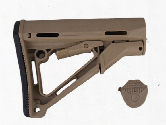 Tactical Compact Type Buttstock Cheek Rest Pts Version M-oe Stocks With Retail Box For Ar15/m4/m16 Carbines Commercial Buffer Black/de