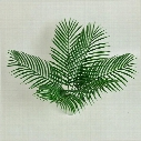 15Pcs Artificial Plastic Leaves green plants Fake Palm Tree Leaf Greenery for Floral flower Arrangement wedding decoration