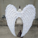 large size beautiful white angel wings Automobile Exhibition stage performance Displays Wedding shooting props pure handmade