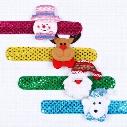 New children Sequin Christmas wristband cartoon Christmas deer Santa Claus snowman Flap ring Bracelet Xmas Decorations C2716