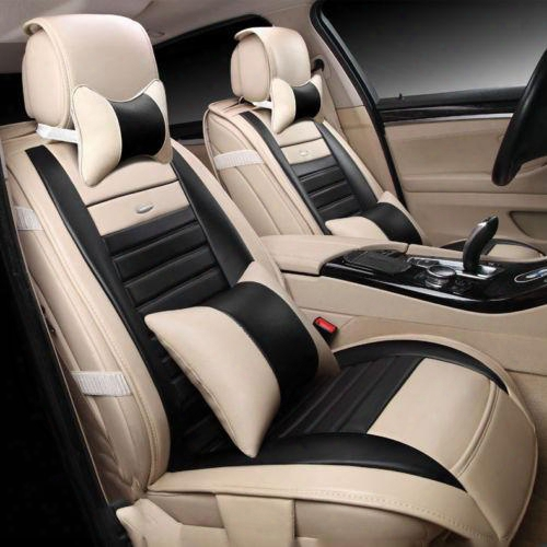 Universal Car Seat Covers With Pillows Cushions(front+rear)special Leather Car Seat Covers For Kia K2-k5 Volkswagen Audi Auto Accessories 02