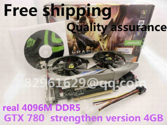 Wholesale-free Shipping Gtx780 Game Graphics Really 4g Ddr5 Independent Pci-e Computer Desktop With Tracking Number Pk 750ti 680 770 Gtx