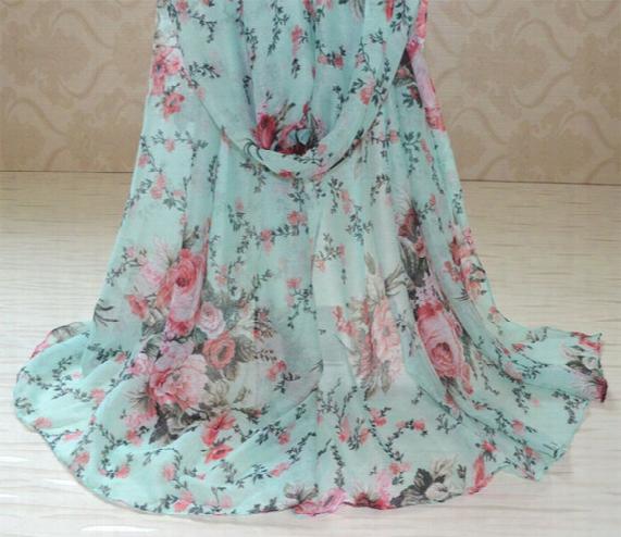 Wholesale-ladies Spring Scarves 2015,viscose Scarf,flower Print,rose Print,floral Hijab,muslim Hijab,scarf Women,bandana,poncho,cape,shawl