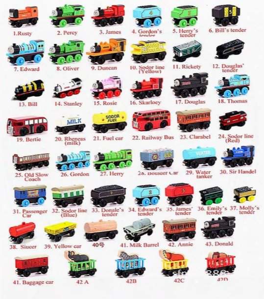 Wooden Small Trains Cartoon Toys 70 Styles Kids Wooden Toys Trains Friends Wooden Trains Car Toys